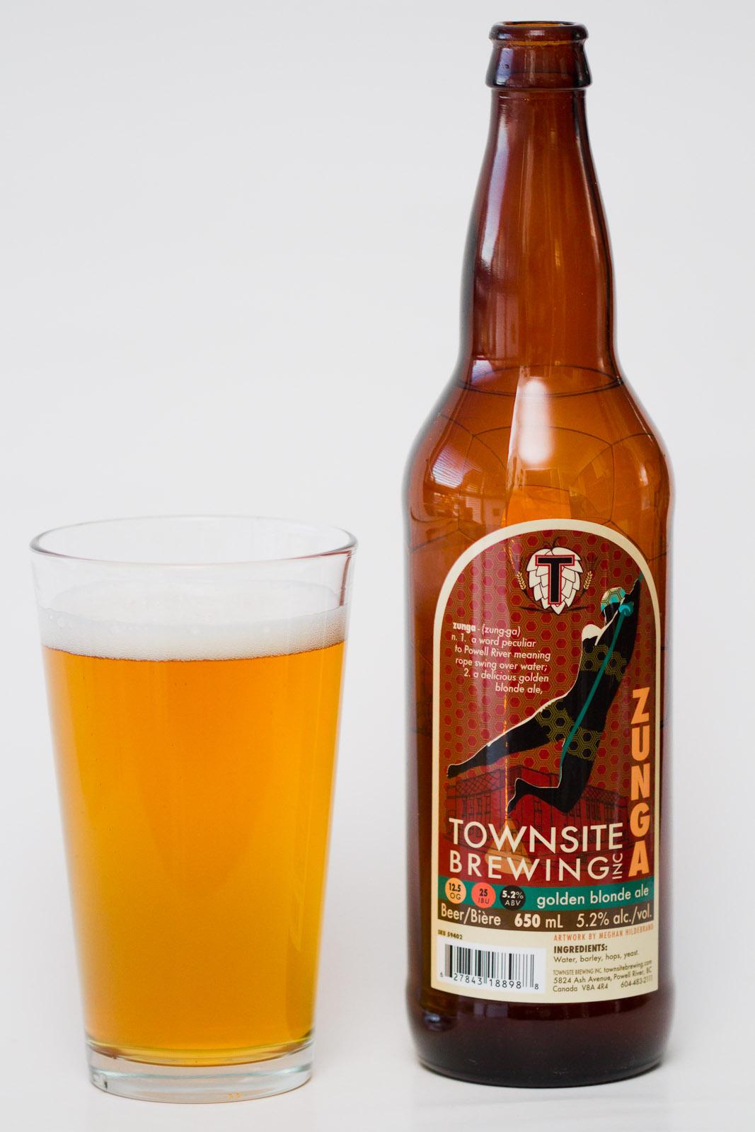 Townsite Brewing Inc Zunga Blonde Ale Beer Me British