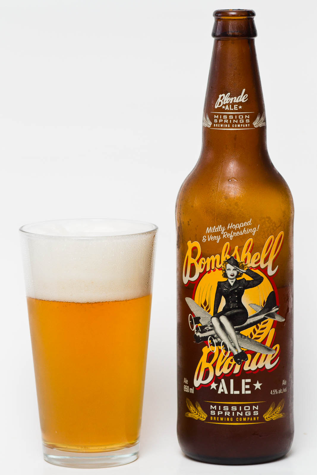 Mission Springs Brewing Co Bombshell Blonde Ale Beer