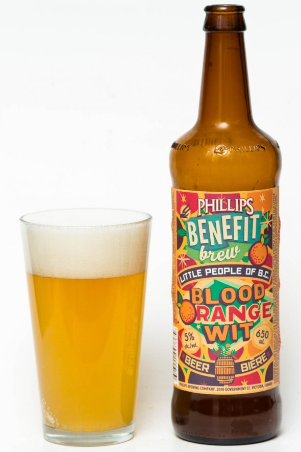 Phillips Benefit Brew Blood Orange Wit Review- Little People of BC