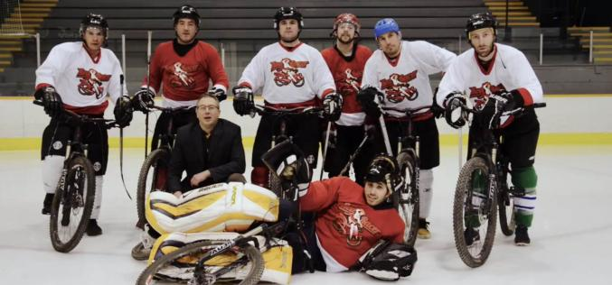 Red Racer Beer & Norco Bicycles campaign for a new Olympic Winter Sport – Bike Hockey.