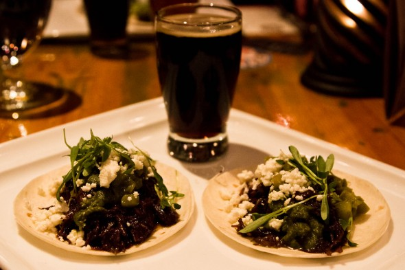 Chipotle Barbacoa Tacos with Brassneck and Steamworks Collaboration Firewalker Smokey Porter