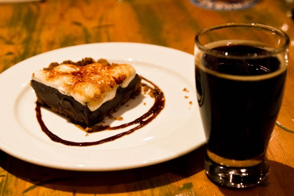 S'More Pie with a Brassneck Rye Stout