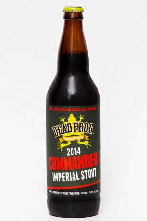 Dead Frog Brewing 2014 Commander Imperial stout review