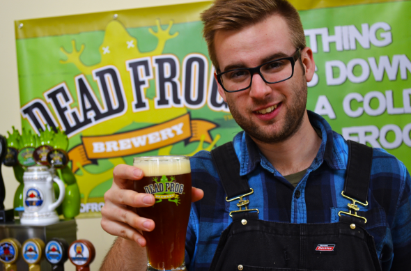 Dead Frog Brewery Head Brewer Nicholas Fengler