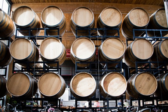 Postmark Brewery Wine Barrels