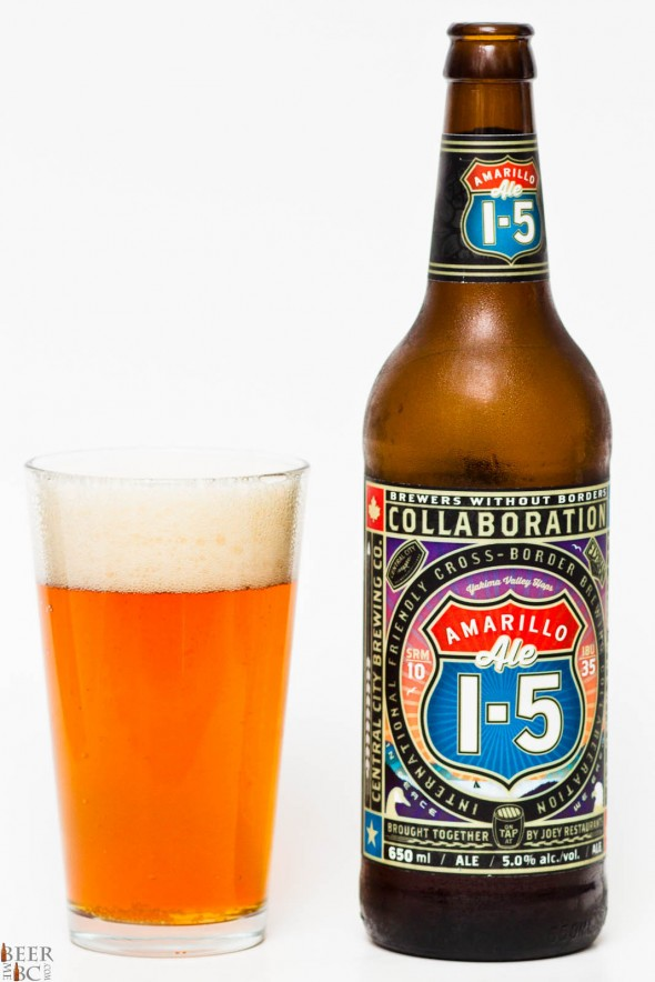 Central City & Elysian Brewery I5 Collaboration Amarillo Ale Review