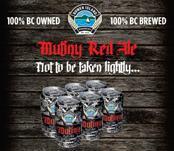Bowen Island Mutiny Red Ale Release