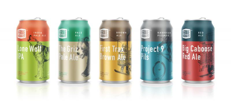 Fernie Brewing Co. - New Packaging - Cans