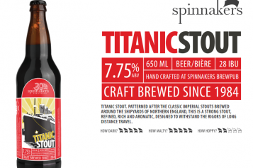 Seasonal Brew Releases from Spinnaker's: The Titanic Stout and Uber Blonde