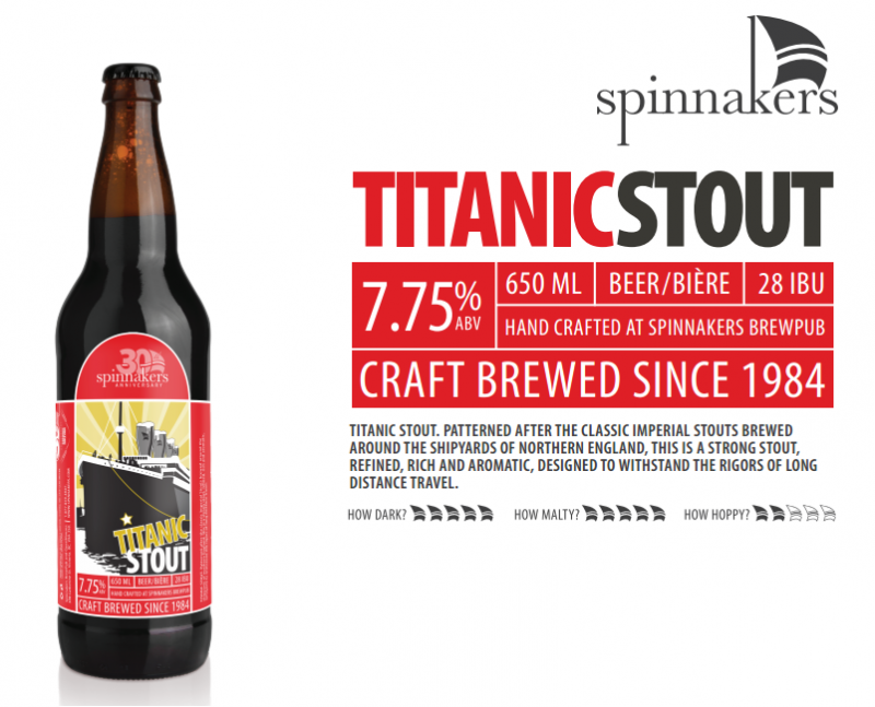 Spinnaker's Brewery Titanic Stout