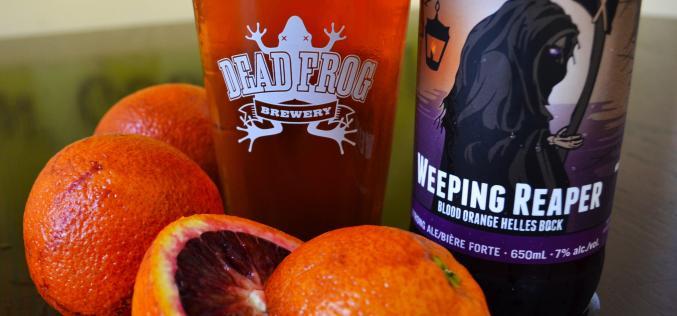 Dead Frog Releases Weeping Reaper Blood Orange Helles Bock