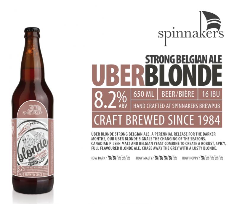 Spinnaker's Brewery Uber Blonde