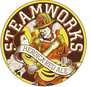 Steamworks Heroica Red Ale Logo