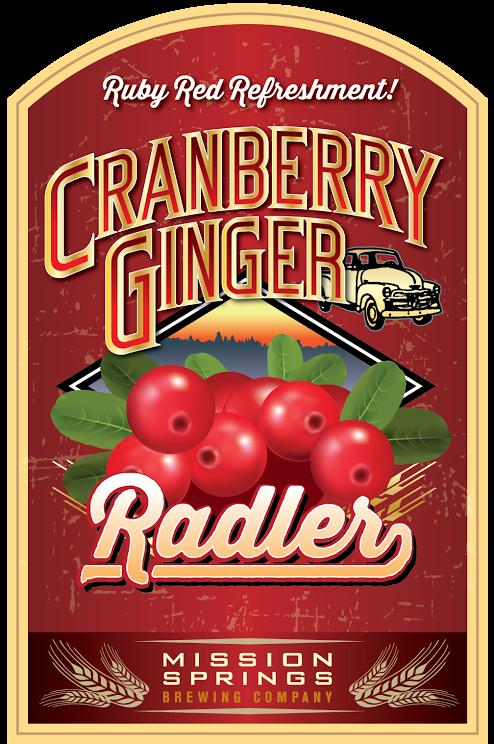 Mission Springs Blue Cranberry Radler