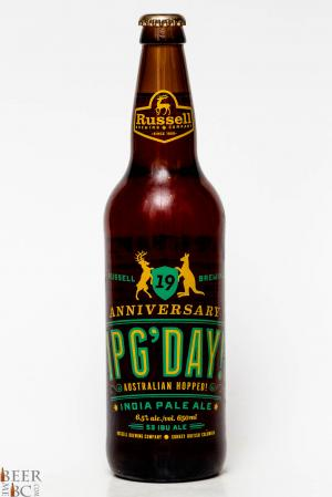 Russell Brewing IPG'Day Australian Hopped  IPA Review Bottle