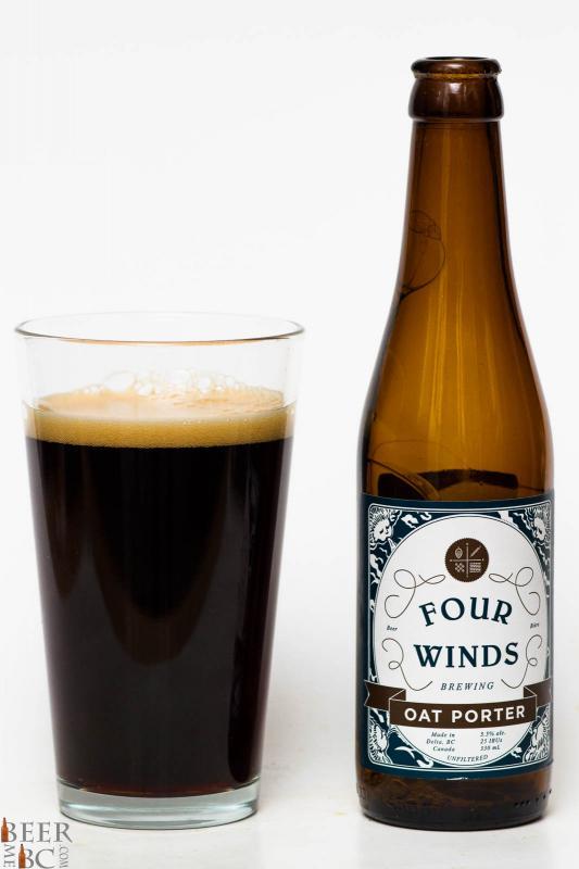Four Winds Oat Porter Review Pour