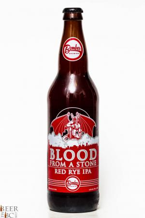 Bomber Brewing & Stone Collaboration Blood From A Stone Red Rye IPA Review Bottle