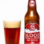 Bomber Brewing & Stone Collaboration Blood From A Stone Red Rye IPA Review Pour