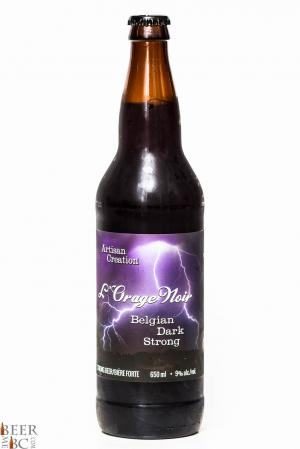 Cannery Brewing L'Orage Noir Belgian Strong Review Bottle