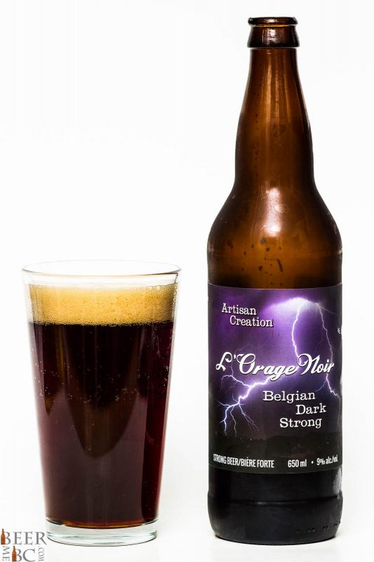 Cannery Brewing L'Orage Noir Belgian Strong Review Pour