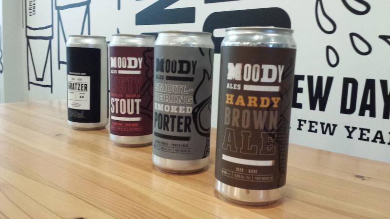 Moody Ales Crowler Can-Growler Lineup