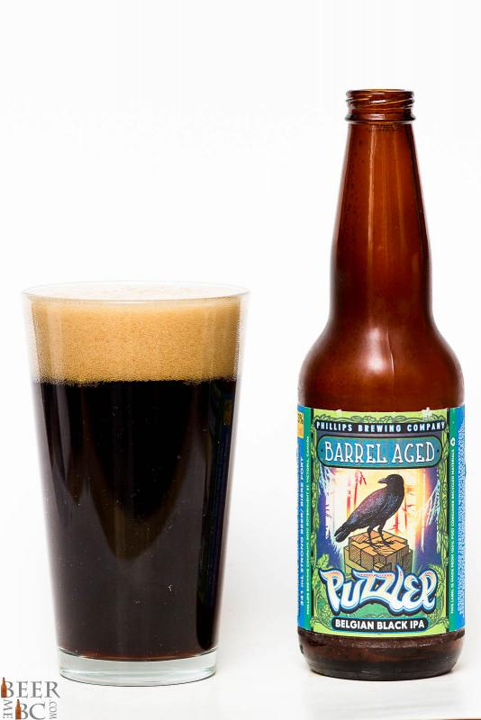 Phillips Brewing Barrel Aged Puzzler Black IPA Review