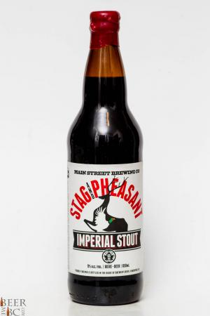Main Street Brewing Stag & Pheasant Imperial Stout Review
