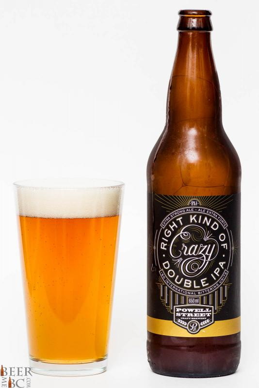 Powell Street Brewery Right Kind of Crazy Double IPA Review