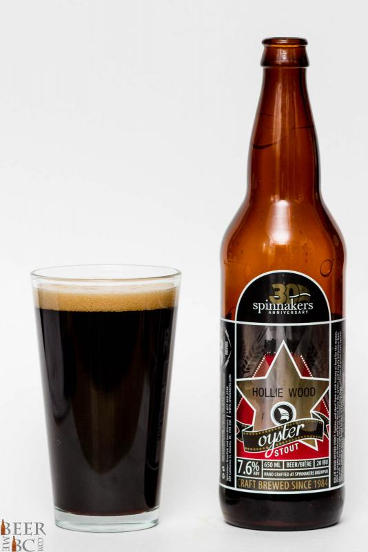 Spinnaker's Hollie Wood Oyster Stout Review