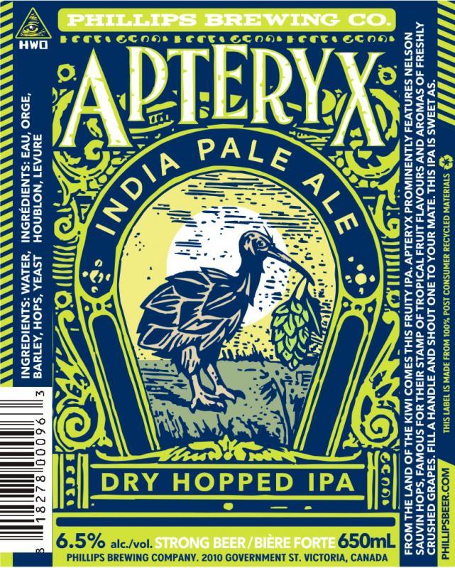 Phillips Brewin Apteryx New Zealand Hopped IPA