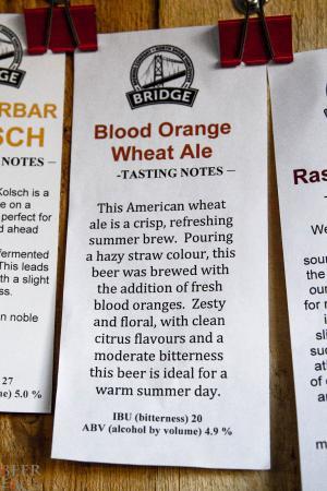 Bridge Brewing Blood Orange Wheat Ale