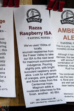 Bridge Brewing Razza Raspberry ISA