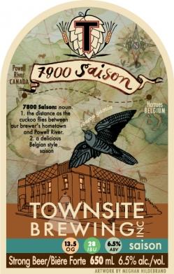 Townsite Brewing 7800 Saison Release