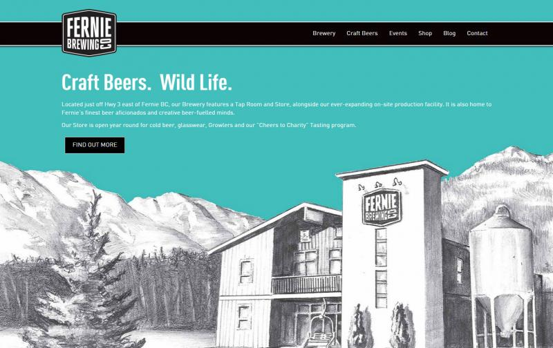 Fernie Brewing New Website
