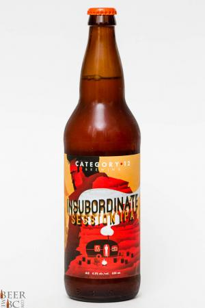 Category 12 Brewing Insubordinate Session IPA Review