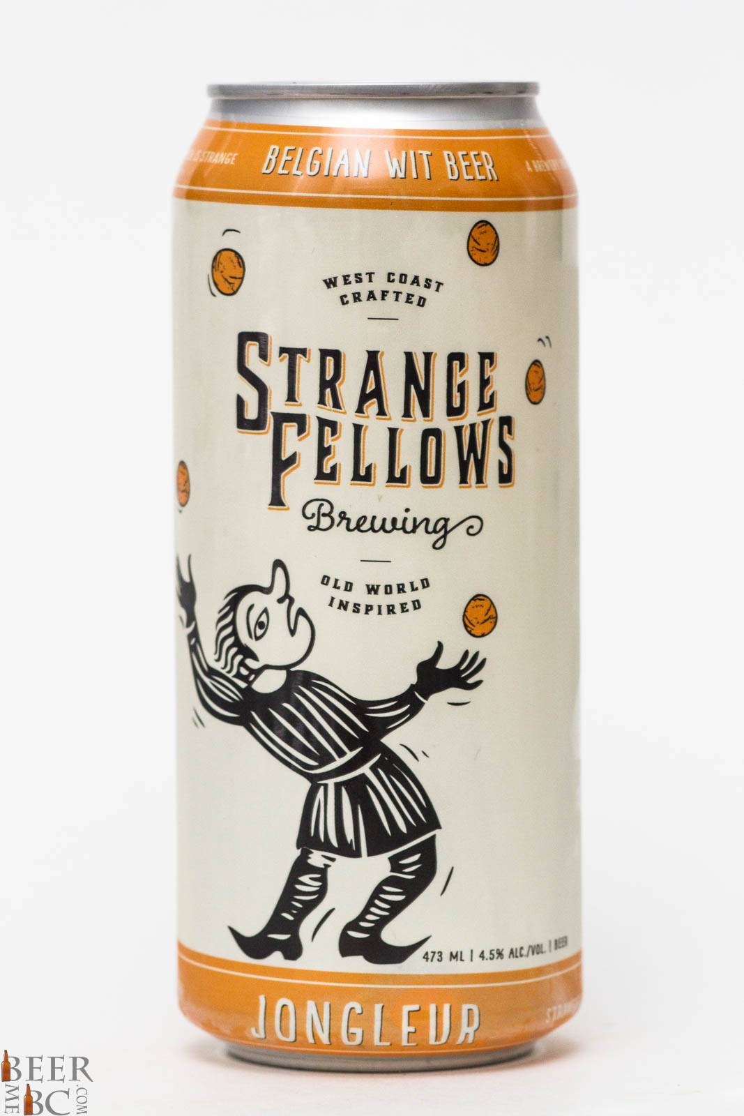 Strange fellows brewing co jongleur belgian wit beer for Strange craft beer company