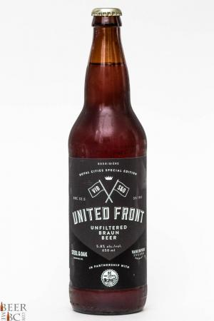 United Front Braun Beer - BC Craft Brewers Guild Collaboration Review