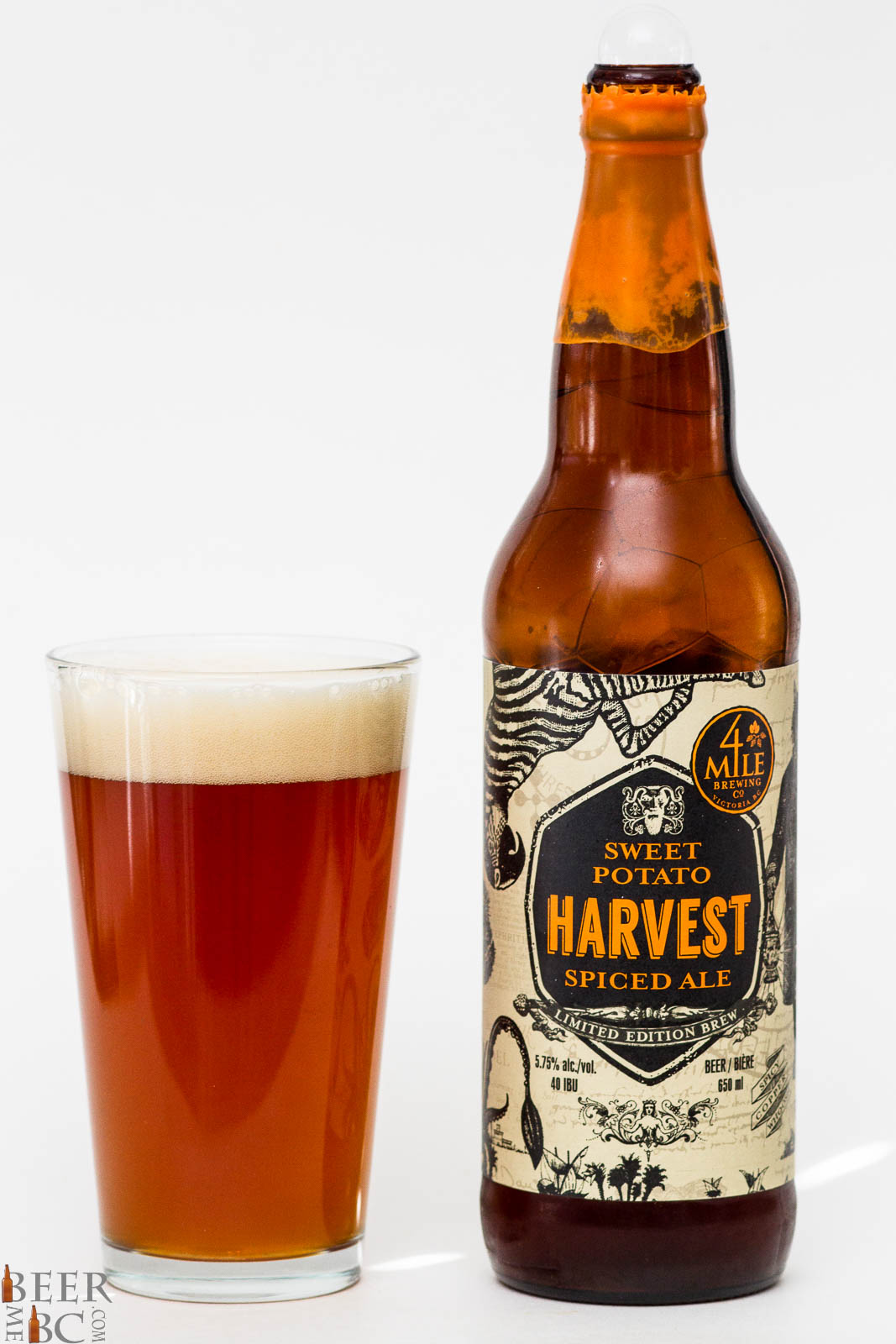 4 Mile Brewing Co Sweet Potato Harvest Spiced Ale