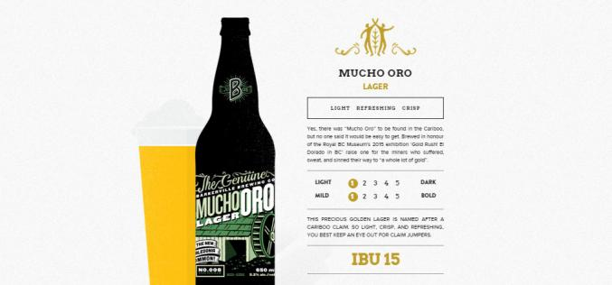 Barkerville Brewing Mucho Oro Lager is the Signature beer At The Royal BC Museum