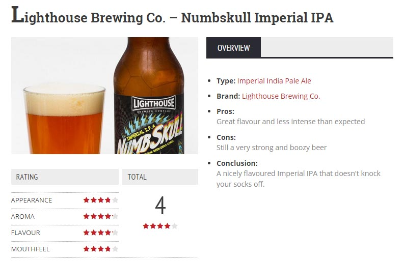 Lighthouse Numbskull IIPA Review