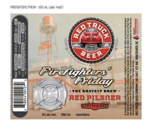 Red Truck Firefighters' Friday Red Pilsner