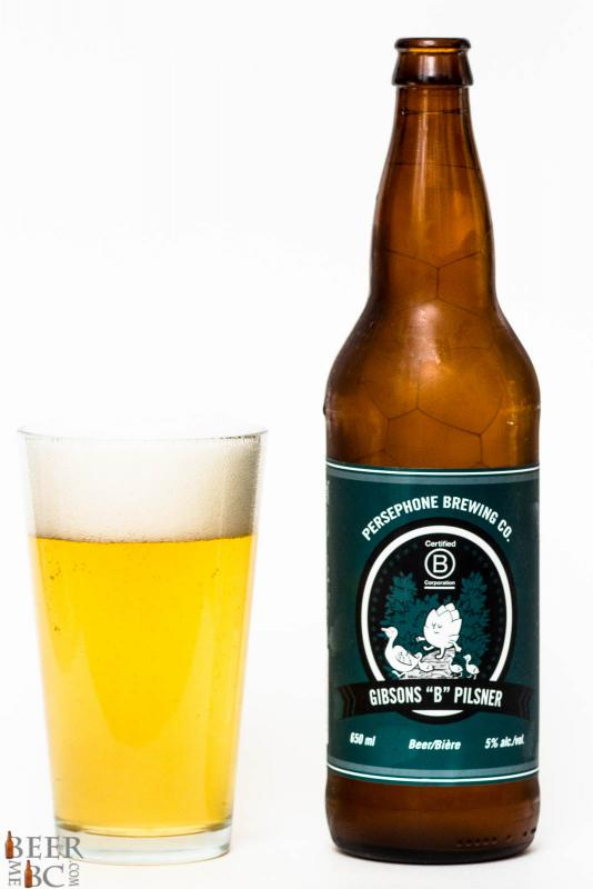 """Persephone Brewing Co. Gibsons """"B"""" Pilsner Review"""