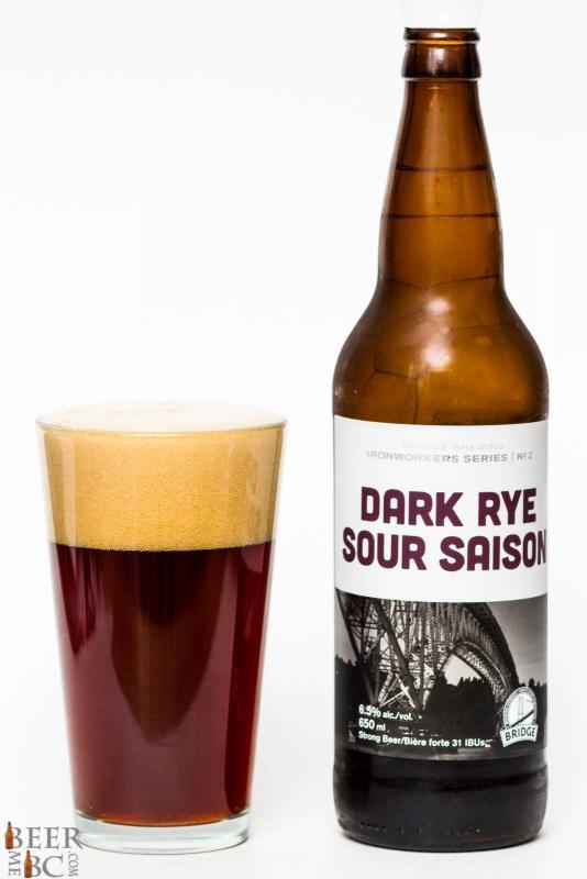 Bridge Brewing Co. - Dark Rye Sour Saison Review