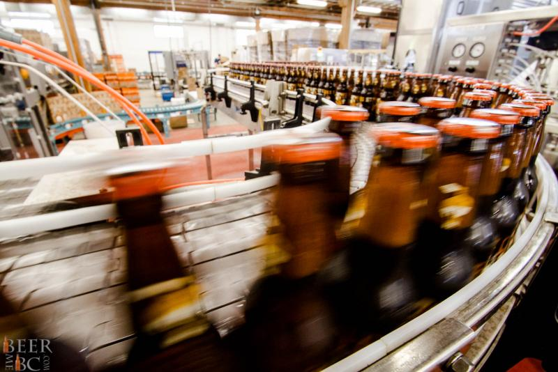 Steamworks Brewery Bottling Line