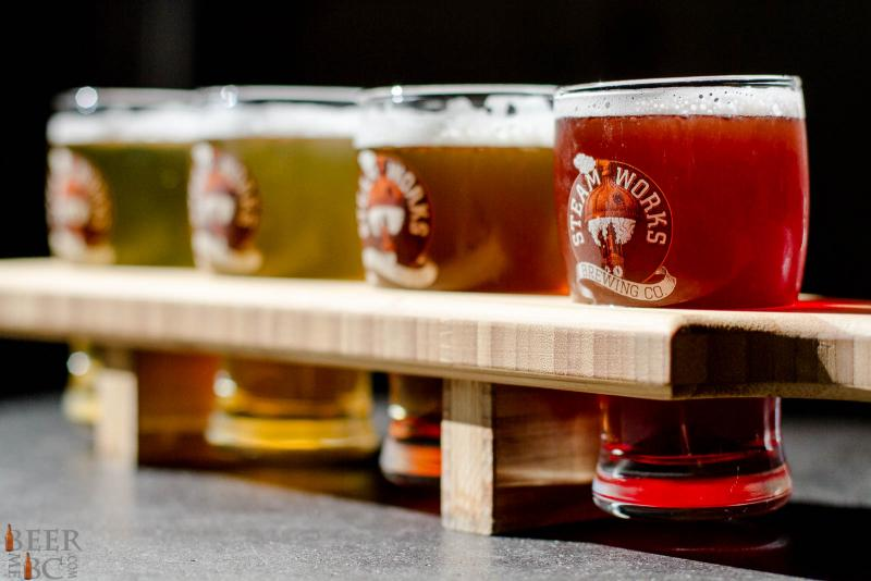 Steamworks Brewery Tasting Flight