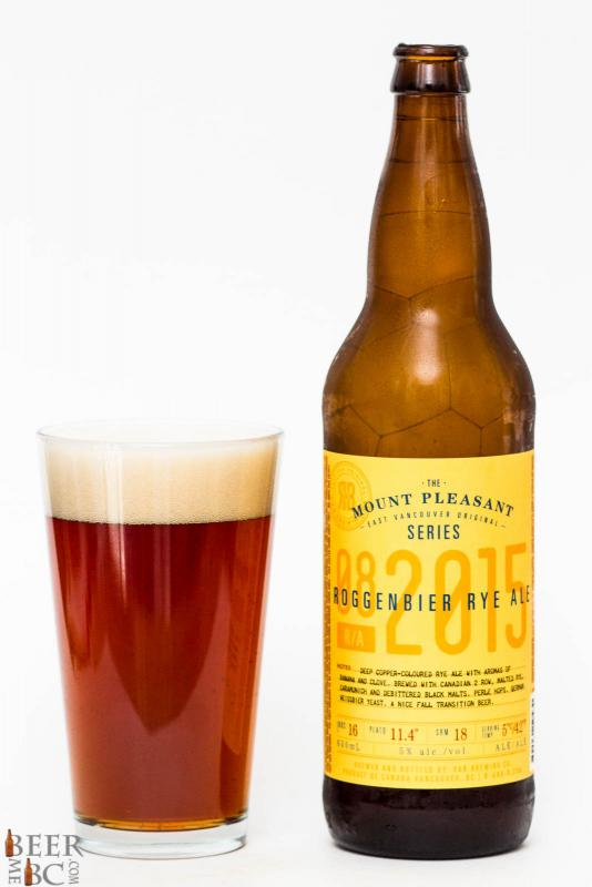R&B Brewing Mt. Pleasant Roggenbier Rye Ale Review