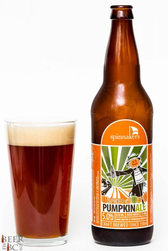 2015 Spinnaker's Pumpkin Ale Review