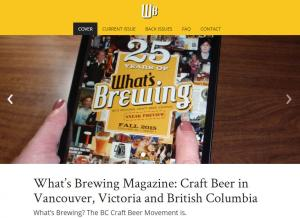 What's Brewing Magazine