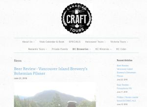 Canadian Craft Beer Tours Blog