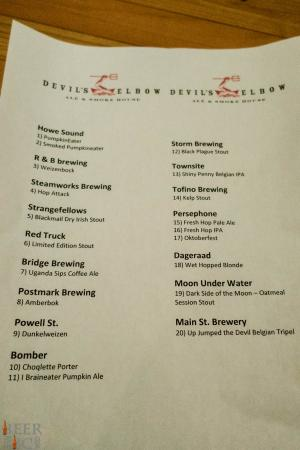 Devil's Elbow BC Fall Craft Beer Takeover